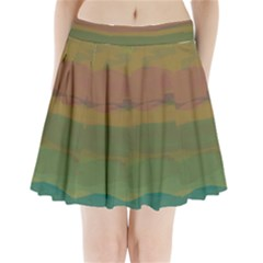 Watercolors                Pleated Mini Mesh Skirt