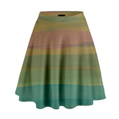 Watercolors                                                                                        High Waist Skirt