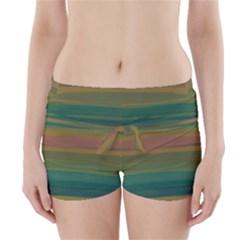 Watercolors            Boyleg Bikini Wrap Bottoms