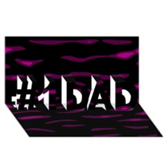 Purple and black #1 DAD 3D Greeting Card (8x4)