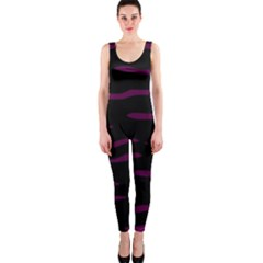 Purple and black OnePiece Catsuit