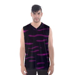 Purple And Black Men s Basketball Tank Top