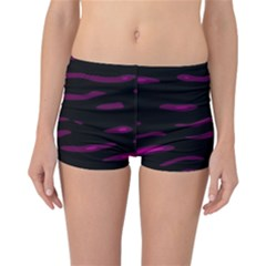 Purple and black Reversible Boyleg Bikini Bottoms