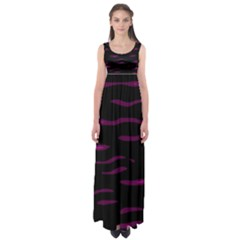 Purple and black Empire Waist Maxi Dress