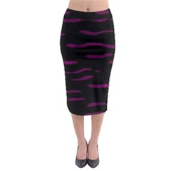 Purple and black Midi Pencil Skirt