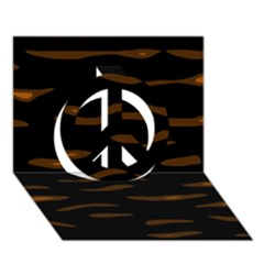 orange and black Peace Sign 3D Greeting Card (7x5)