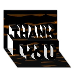 orange and black THANK YOU 3D Greeting Card (7x5)