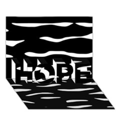 Black and white HOPE 3D Greeting Card (7x5)