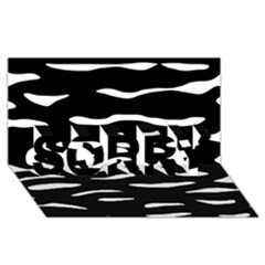 Black and white SORRY 3D Greeting Card (8x4)