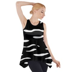 Black And White Side Drop Tank Tunic