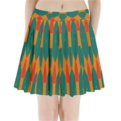 Honeycombs And Triangles Pattern                 Pleated Mini Mesh Skirt