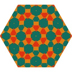 Honeycombs And Triangles Pattern                                                                                       Umbrella
