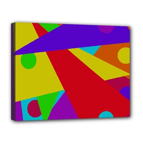 Colorful abstract design Canvas 14  x 11