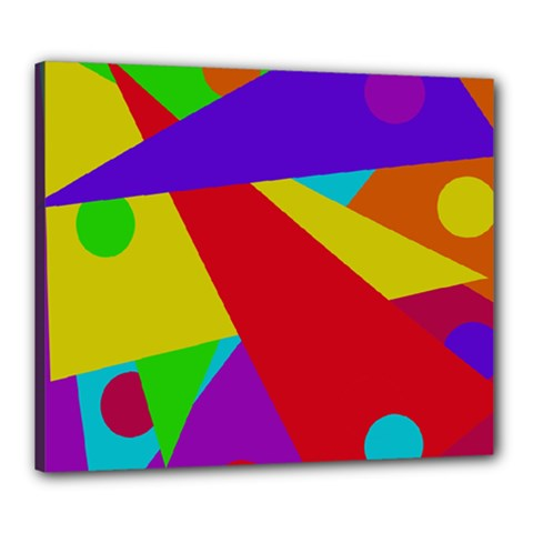 Colorful abstract design Canvas 24  x 20