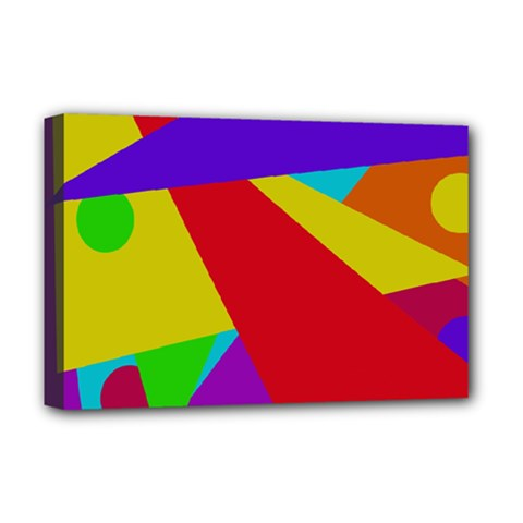 Colorful abstract design Deluxe Canvas 18  x 12