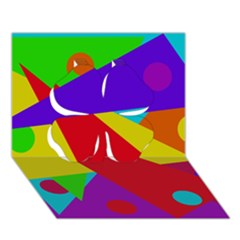 Colorful abstract design Clover 3D Greeting Card (7x5)