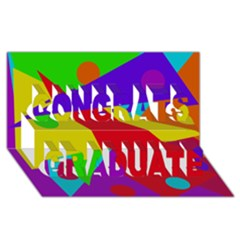 Colorful abstract design Congrats Graduate 3D Greeting Card (8x4)