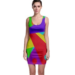 Colorful abstract design Sleeveless Bodycon Dress
