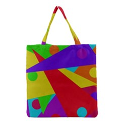 Colorful abstract design Grocery Tote Bag