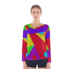 Colorful abstract design Women s Long Sleeve Tee