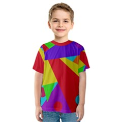 Colorful abstract design Kid s Sport Mesh Tee
