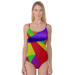 Colorful Abstract Design Camisole Leotard