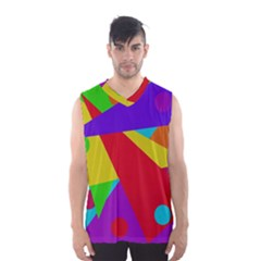 Colorful Abstract Design Men s Basketball Tank Top