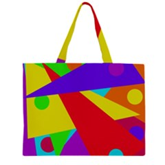 Colorful abstract design Zipper Large Tote Bag