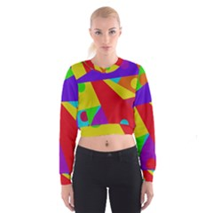 Colorful abstract design Women s Cropped Sweatshirt
