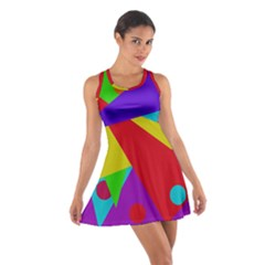 Colorful abstract design Racerback Dresses