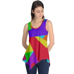 Colorful abstract design Sleeveless Tunic