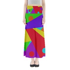 Colorful abstract design Maxi Skirts