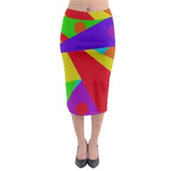 Colorful abstract design Midi Pencil Skirt