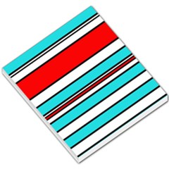 Blue, red, and white lines Small Memo Pads