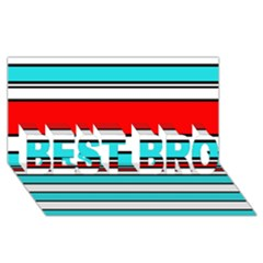 Blue, red, and white lines BEST BRO 3D Greeting Card (8x4)
