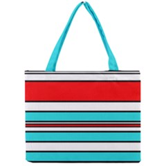 Blue, red, and white lines Mini Tote Bag