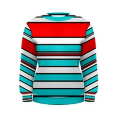 Blue, red, and white lines Women s Sweatshirt