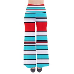 Blue, Red, And White Lines Pants