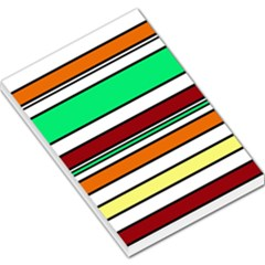 Green, orange and yellow lines Large Memo Pads