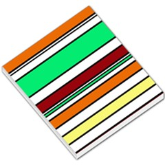 Green, orange and yellow lines Small Memo Pads