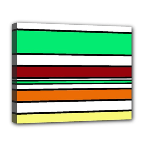 Green, orange and yellow lines Deluxe Canvas 20  x 16