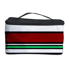 Green, orange and yellow lines Cosmetic Storage Case