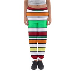 Green, orange and yellow lines Women s Jogger Sweatpants
