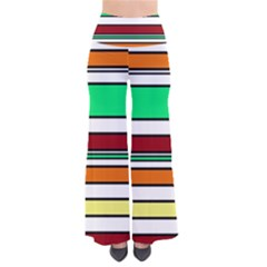 Green, orange and yellow lines Pants