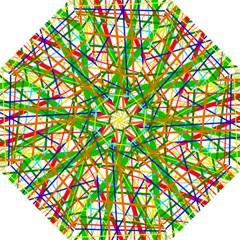Colorful lines Hook Handle Umbrellas (Large)