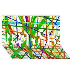 Colorful lines #1 DAD 3D Greeting Card (8x4)