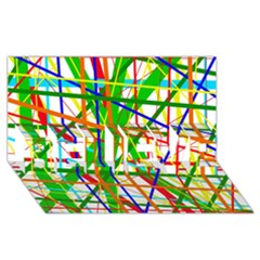 Colorful lines BELIEVE 3D Greeting Card (8x4)