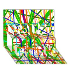Colorful lines You Rock 3D Greeting Card (7x5)