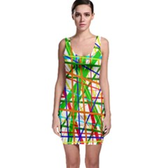 Colorful lines Sleeveless Bodycon Dress