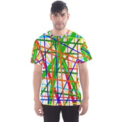 Colorful lines Men s Sport Mesh Tee